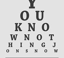 Ygritte, Eye Chart by Alex Boatman