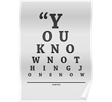 Ygritte, Eye Chart Poster