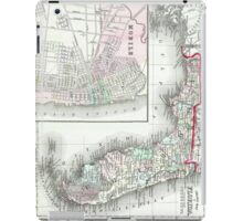Vintage Map of Florida and Mobile AL (1874) iPad Case/Skin