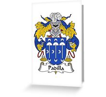 Padilla Coat of Arms/Family Crest Greeting Card