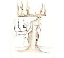 Dryad #1 - Watercolor Painting Photographic Print