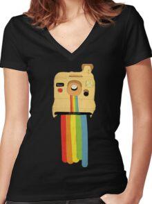 Polaroid Women's Fitted V-Neck T-Shirt