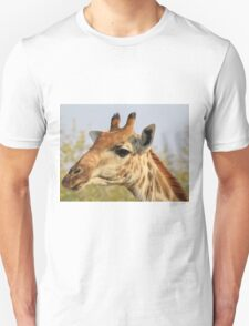Giraffe - African Wildlife Background - Colorful Solitude T-Shirt