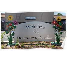 Downtown Peculiar Flower Sign Poster
