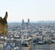 Gargoyle eyeing the Eiffel tower  Sticker