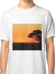 Sunset Gold - Nature Background - African Peace Classic T-Shirt