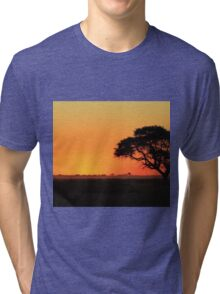 Sunset Gold - Nature Background - African Peace Tri-blend T-Shirt
