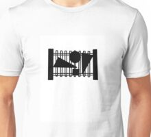 Abstract Fence Design Unisex T-Shirt