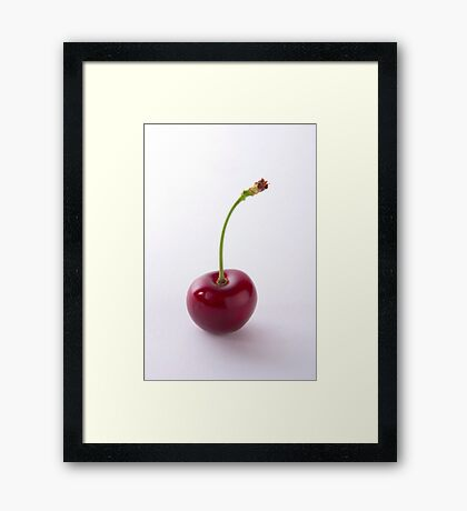 Simplistic Cherry Design - Cases, Prints, Totes and More Framed Print