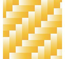 yellow parquet background Photographic Print