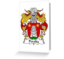 Peralta Coat of Arms/Family Crest Greeting Card