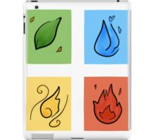 Square Designs - Four elements, Earth, Water, Air and Fire iPad Case/Skin