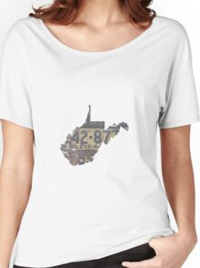 Vintage West Virginia License Plates Women's Relaxed Fit T-Shirt