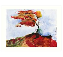 Autumnal wind - original watercolour Art Print