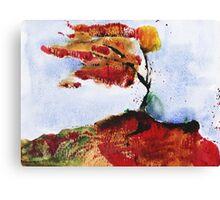 Autumnal wind - original watercolour Canvas Print