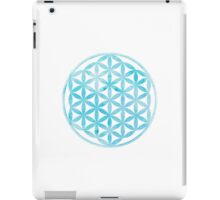 Watercolor light blue Flower of Life iPad Case/Skin
