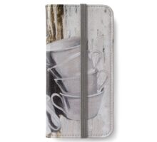 Cowering Cups iPhone Wallet/Case/Skin