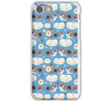 Pattern enamored hamster iPhone Case/Skin