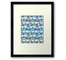 Pattern enamored hamster Framed Print