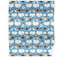 Pattern enamored hamster Poster