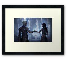 Cloud Strife and Tifa Lockhart Framed Print