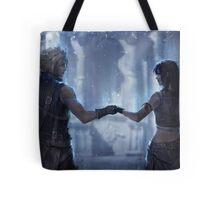 Cloud Strife and Tifa Lockhart Tote Bag