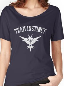 Team Instinct Distressed (Name Only) - Yellow Team - Pokemon Go Women's Relaxed Fit T-Shirt