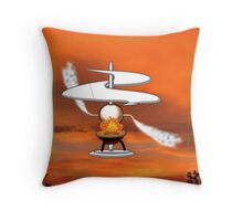 The First Helicopter ? - pillow & tote design Throw Pillow