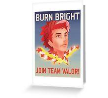 Pokemon GO: Team Valor Propaganda Poster Greeting Card
