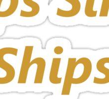 Loose Lips Sink Ships Sticker