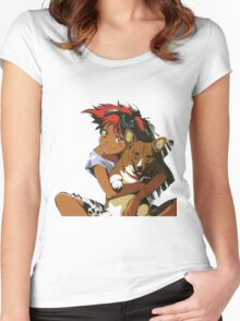 Edward and Ein Cowboy Bebop Women's Fitted Scoop T-Shirt