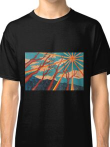Sunshine and Trees Painting Classic T-Shirt