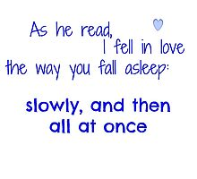 As he read, I fell in love by Comm