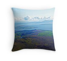 Isle of Arran and Isle of Cumbrae & River Clyde Coast Scotland Throw Pillow