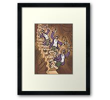 Dude Descending a Staircase Framed Print