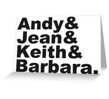 Warhol & Haring & Kruger & Basquiat - Beatles Greeting Card