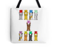 Just a note, cute cartoon cats. Tote Bag