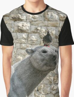 The Pigeon and his Polar Bear Graphic T-Shirt