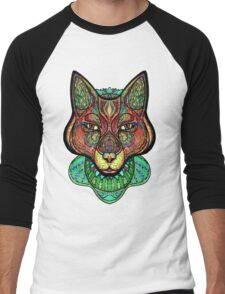 Psychedelic fox Men's Baseball ¾ T-Shirt