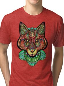 Psychedelic fox Tri-blend T-Shirt