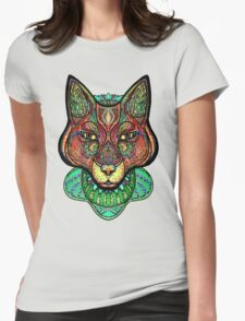 Psychedelic fox Womens Fitted T-Shirt