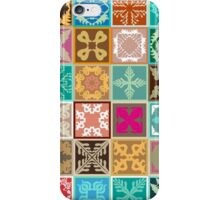 Colorful mosaic with abstract geometrical flowers and tulips. iPhone Case/Skin