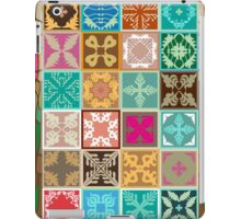 Colorful mosaic with abstract geometrical flowers and tulips. iPad Case/Skin
