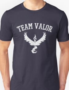Team Valor Distressed (Name Only) - Red Team - Pokemon Go Unisex T-Shirt