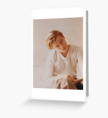 Leonardo DiCaprio  Greeting Card