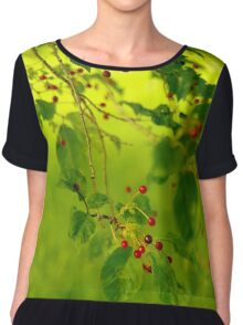 Cherry tree Chiffon Top