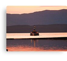 Last Sea Going Paddle Steamer in The World PS Waverley. Canvas Print