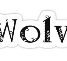 I Love Wolves Sticker