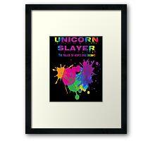 Unicorn Slayer T Shirt Framed Print