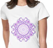 Purple Lotus Mandala Womens Fitted T-Shirt